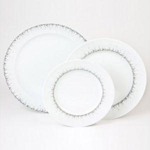 Assiette plate dessert, plat rond Boréalis Gris de chez Table Passion