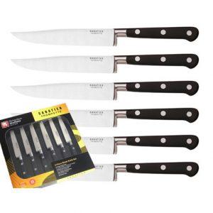 Coffert 6 couteaux à steak Sabatier Trompette de chez Richardson