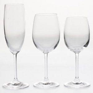 Verres à vin et eau , Flûte à champagne Gala de chez Rona
